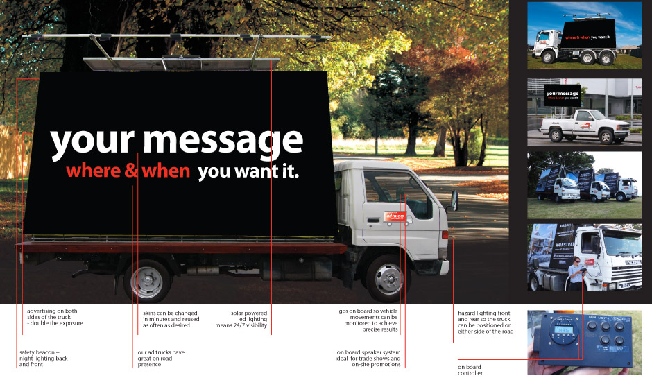 ad trucks - your message when & when you want it
